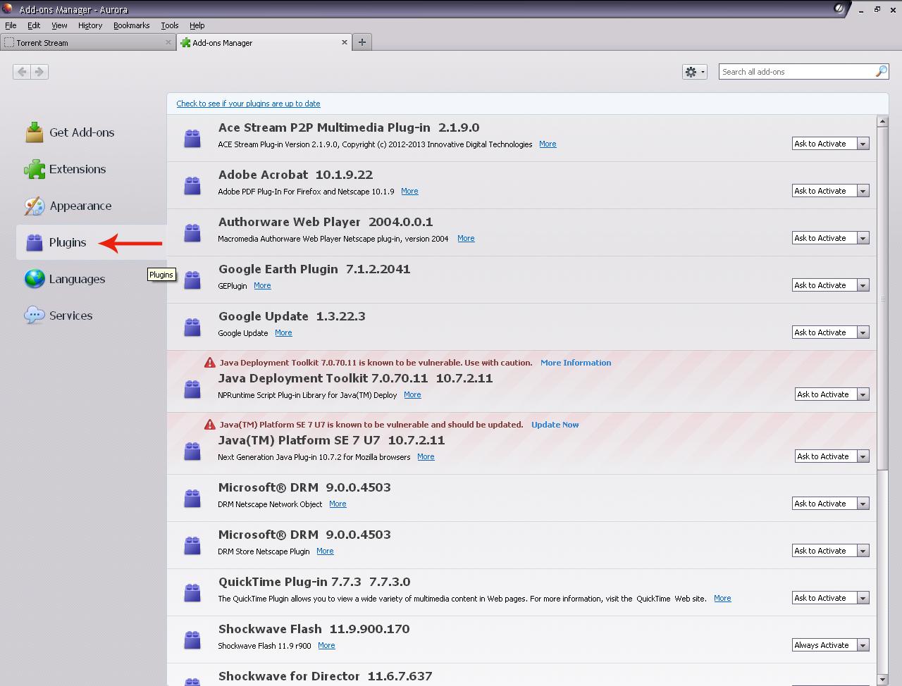 ace stream p2p multimedia plug in download